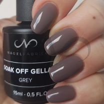 Soak Off Gellak Grey 15 ml