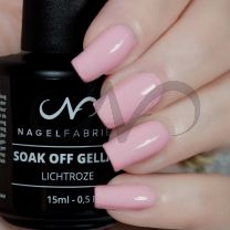Soak Off Gellak Lichtroze 15 ml