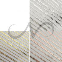 Nagelstickers Chain 3x