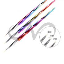 Nail Art Stripers Rainbow 3x