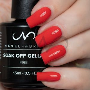 Soak Off Gellak Fire 15 ml NIEUWE FORMULE