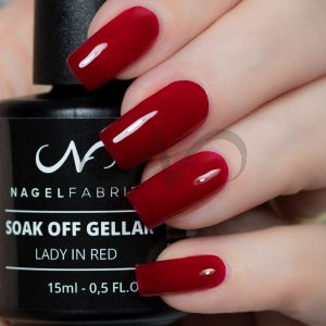 Soak Off Gellak Lady in Red 15 ml