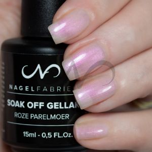 Soak Off Gellak Roze Parelmoer 15 ml