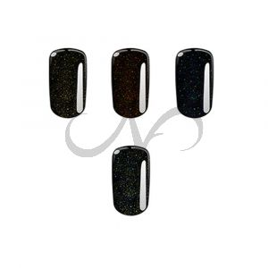 Set Gel Black Sparkle 4x