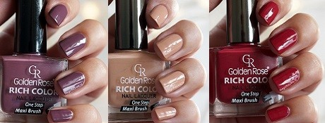 Golden Rose Rich Color Swatches 10, 57 & 104