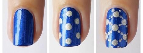 Nail Art | Jeans Dots