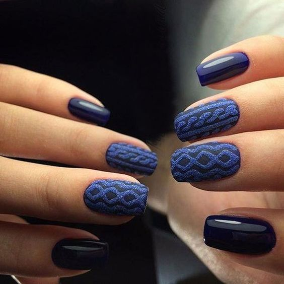 Nail Art Sweater Nails