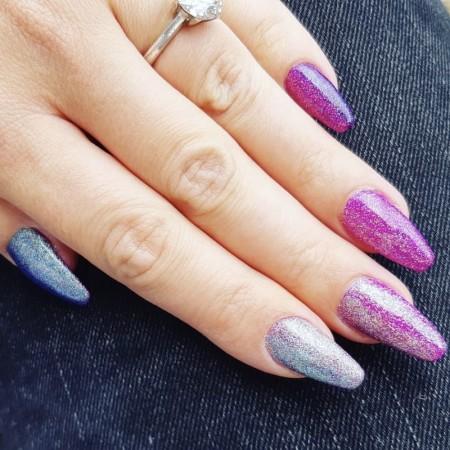 Gradient Glitter Nails met Nagelfabriek Acrylpoeder, Gellak & Glitters