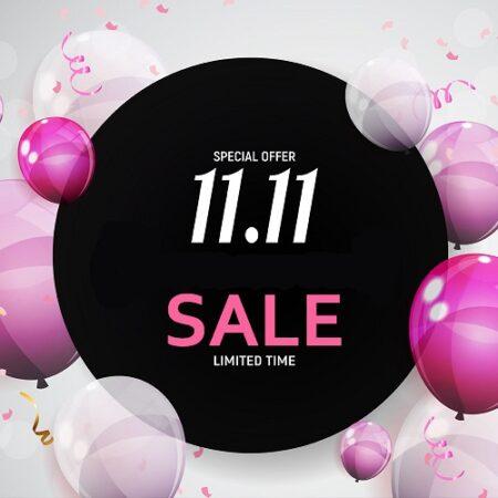 11 november = 11% korting op alles + Winactie